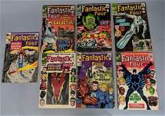 7pc 12 cent Vintage Comic Books. FANTASTIC FOUR.