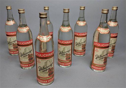 8 Stolichnaya Vodka Bottles 4 5 Qt Russian Vodka Sep 10 2019 Uniques Antiques Inc In Pa