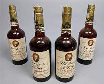 4 WALKERS De LUXE Bourbon Whiskey Bottles Vinta