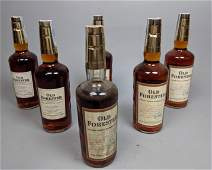 6 OLD FORESTER Kentucky Bourbon Whiskey Bottles