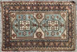 4'1 x 5'6 Heriz Style Handmade Oriental Rug Carpe