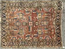 7 'x 9' Heriz Style Handmade Oriental Rug Carpet