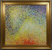 LEONARD NELSON Abstract Modernist Acrylic Paintin