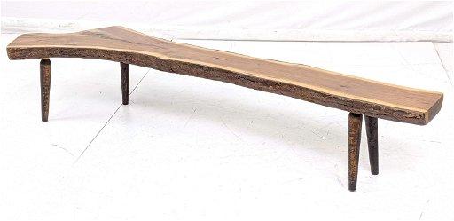 Awe Inspiring Small Live Edge Natural Wood Slab Low Bench Wood Inzonedesignstudio Interior Chair Design Inzonedesignstudiocom