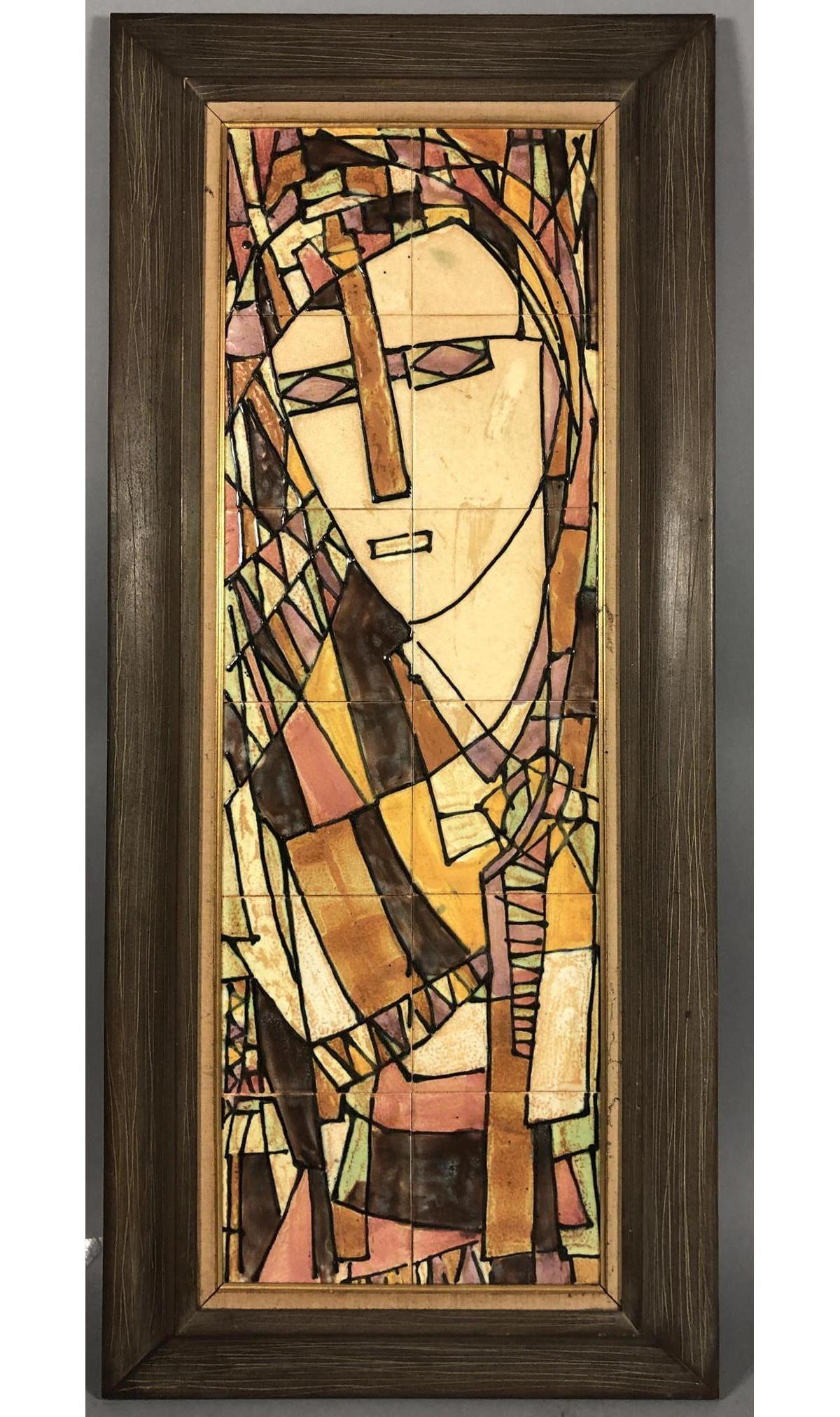 Harris G Strong Hand Painted Ceramic Tile. Modern