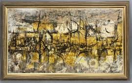 DOROTHY BOWMAN Modernist Abstract Print Illumin