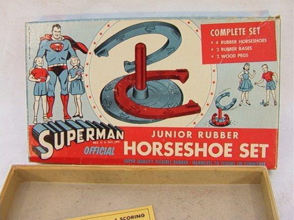 19: Official SUPERMAN Junior Rubber Horseshoe Set  Colo - 3