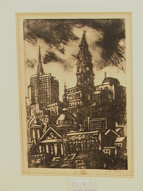 240: DOX THRASH Carborundum Etching Print.  THE CITY Ci