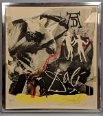 SALVADOR DALI Modernist Abstract Print Homage to Albe