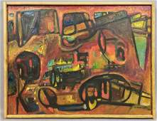 GEORGE MORRISON Abstract Modernist Oil on Canvas Painti