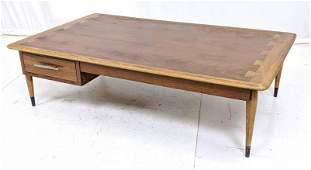 "LANE ""Acclaim"" American Modern Walnut Coffee Table. Tap"