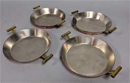 CARL AUBOCK 4pc Modern Austrian Copper Finish Bowls Han