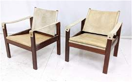 Pr ESCRISA Modernist Campaign Style Rosewood Lounge Cha