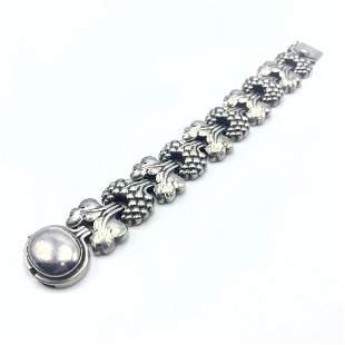 GEORG JENSEN #30 Sterling Silver Bracelet. Large heavy