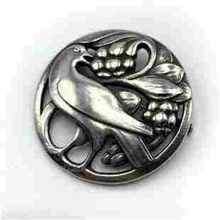 GEORG JENSEN #175 Sterling Silver Bird Berries Pin. Mar
