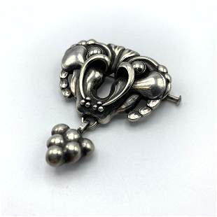 GEORG JENSEN #27 Sterling Silver Pin Brooch. Pin with G