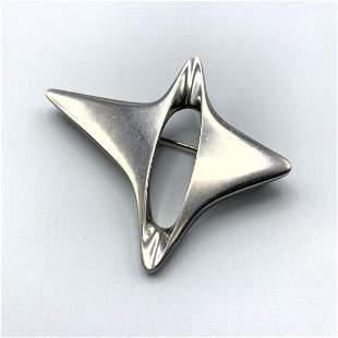 GEORG JENSEN #339 Sterling Silver Brooch Pin. HENNING K