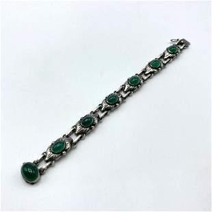 GEORG JENSEN #15 Sterling Silver Bracelet. Floral Links