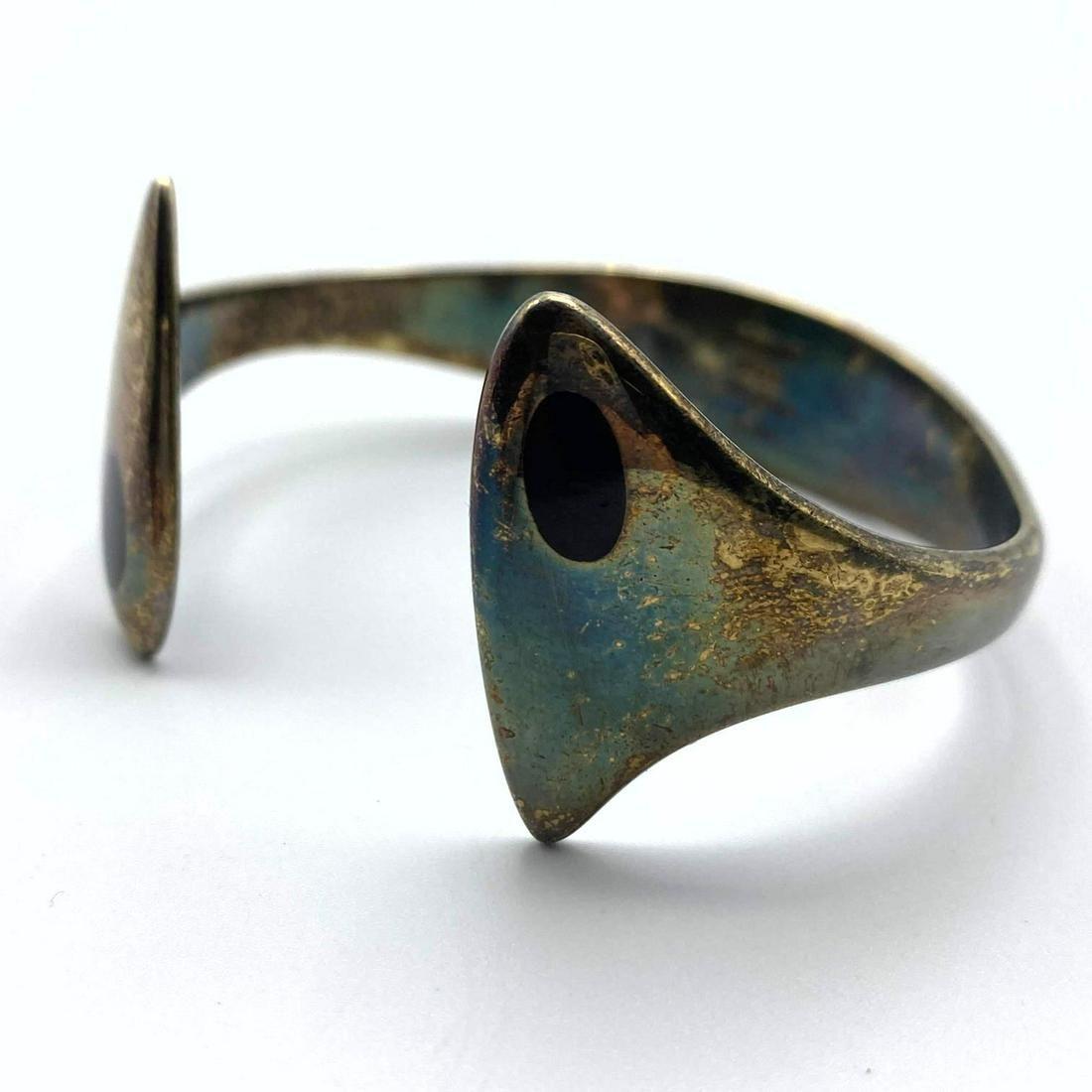 HANS HANSEN # 213E Sterling Silver Cuff Bracelet. Mode