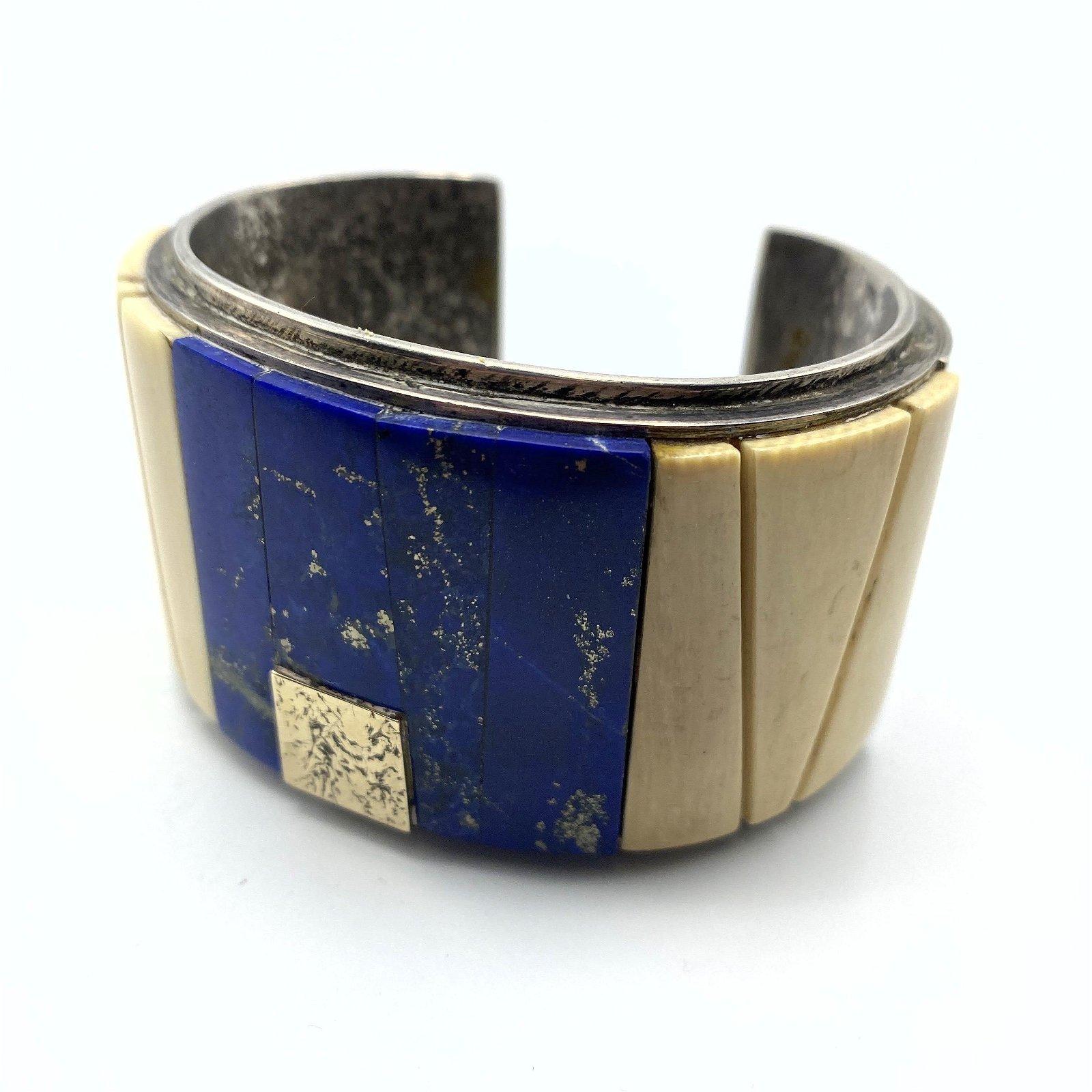 Sterling Charles Loloma style Native American Bracelet.