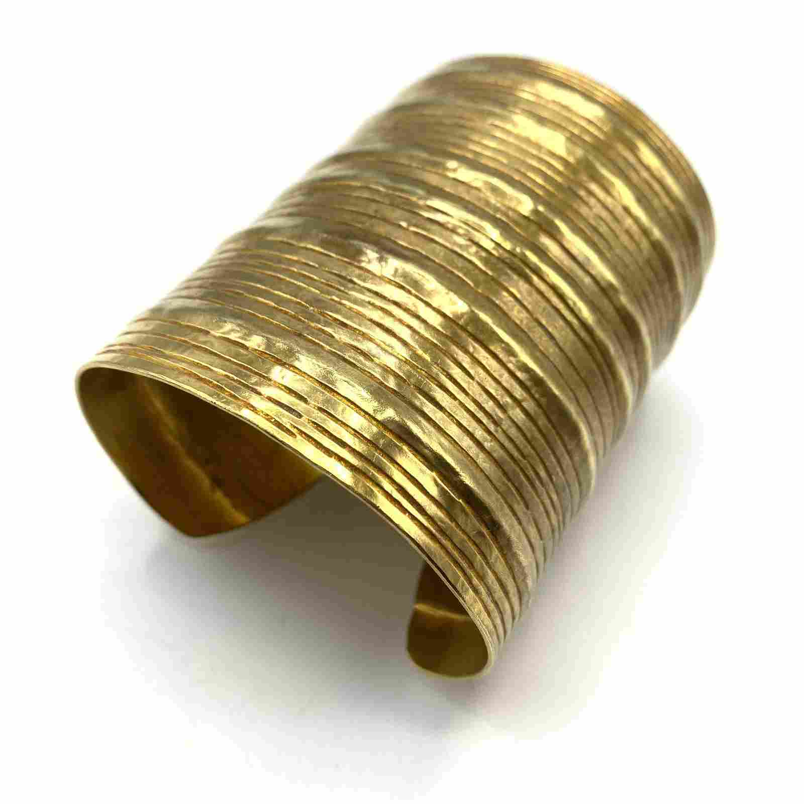 HERVE VAN DER STRAETEN Designer Wide Cuff Bracelet. Gil