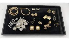 23 Pc Designer Costume Jewelry Oversized Iridescent Cr