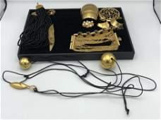 13 Pc Gold tone Designer Costume Jewelry. MARY McFADDEN