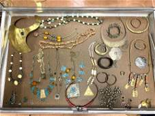 LOT K Large Lot Vintage Costume Jewelry. Tribal Ethnogr