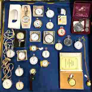 LOT R Large Lot Vintage Pocket watches. Starter Watches