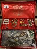 Jewelry Box Lot DD Mixed Costume Jewelry. Watches, Shoe