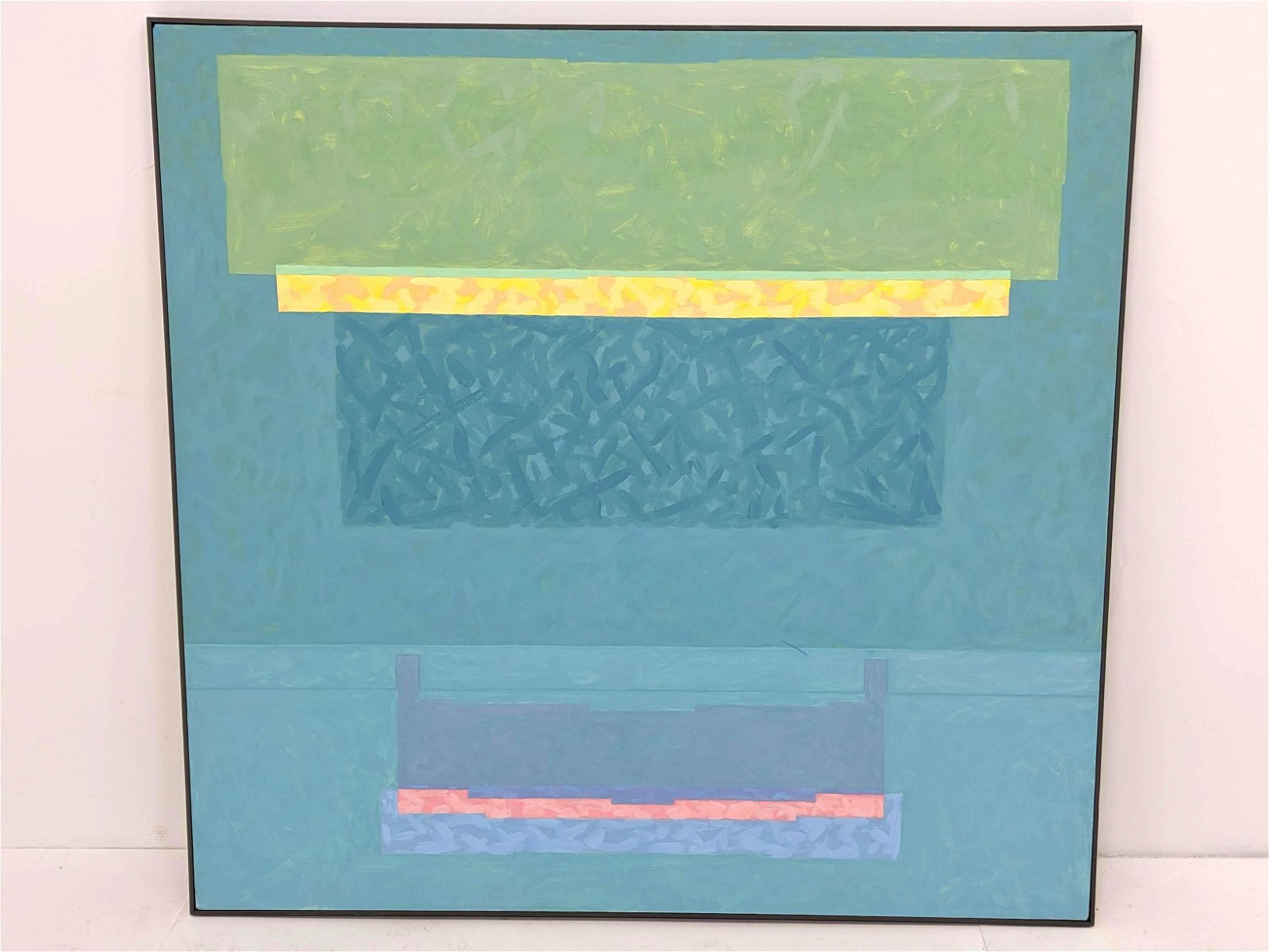 GRAHAM DOUGHERTY Large Modernist Abstract Painting. Tea