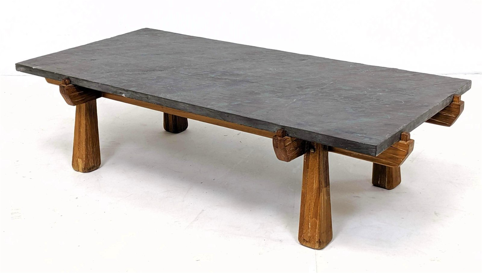 A. Brandt Ranch Oak Coffee Table with Slate Top
