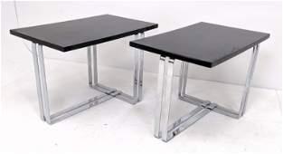 Pr Modernist Art Deco Side Tables. Wolfgang Hoffmann St