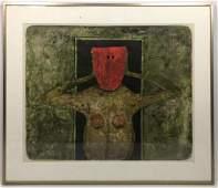 RUFINO TAMAYO Figural Modernist Abstract Print Pencil