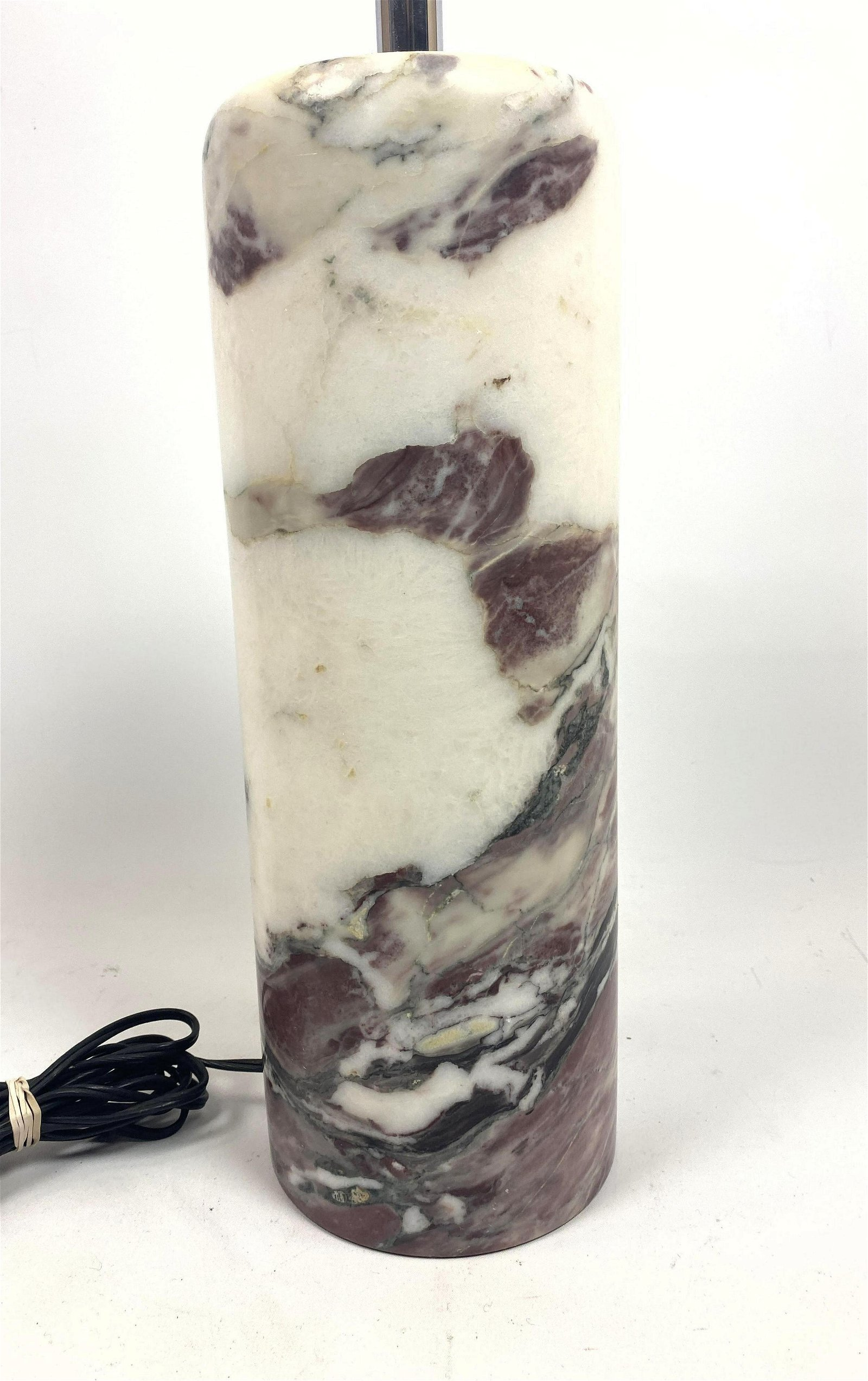 Hansen Style Modernist Marble Column Table Lamp. Thick