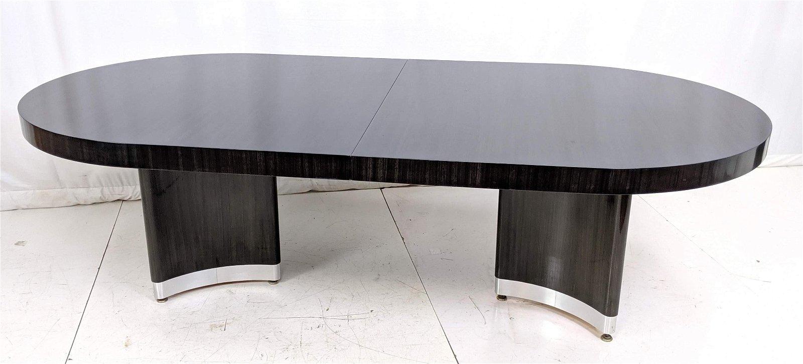 Decorator French Polish Wood Aluminum Dining Table. ERN