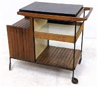 ARTHUR UMANOFF for Raymor Rolling Bar Tea Cart. Signatu