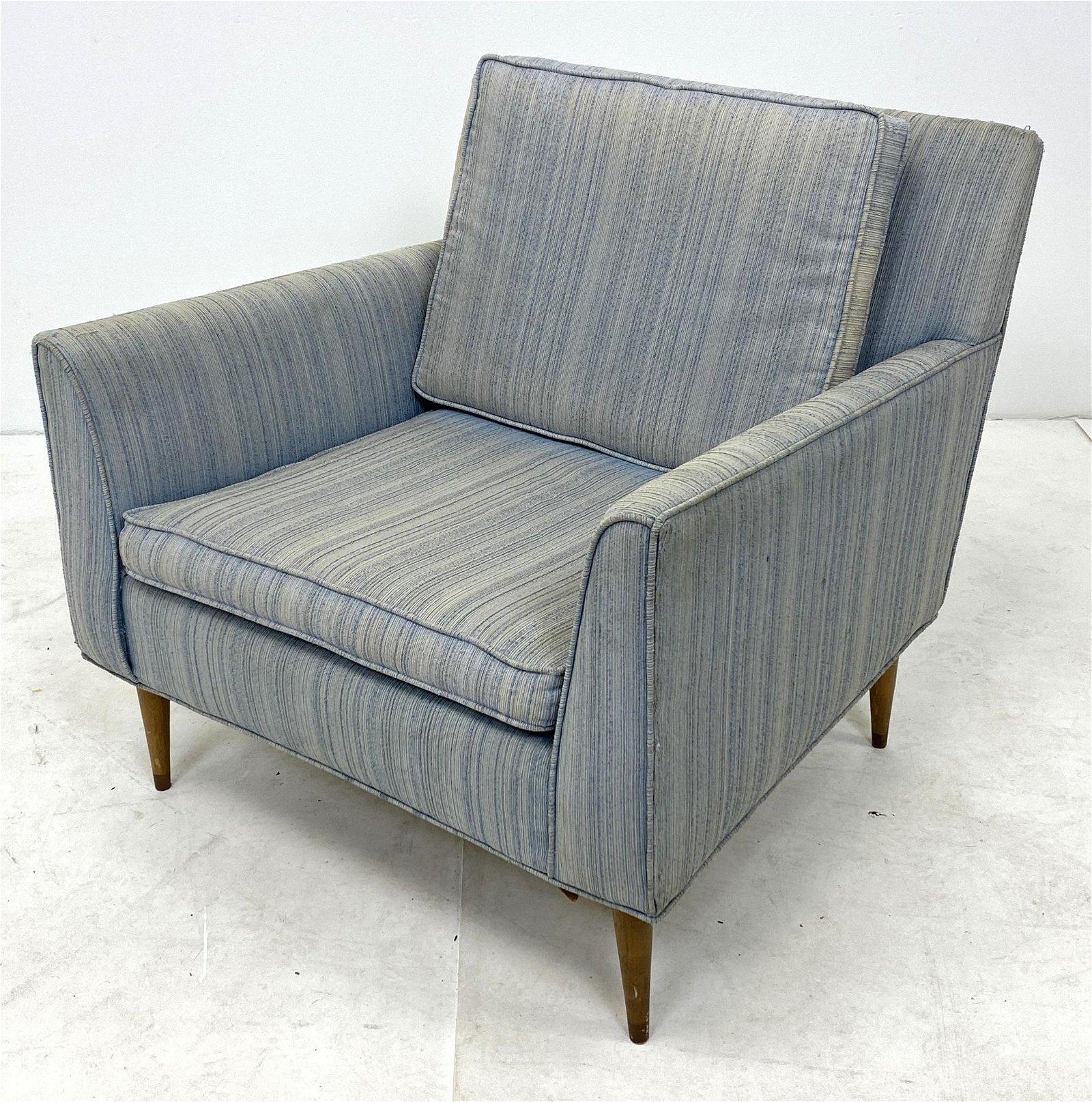 McCobb Style Lounge Chair. American Modern Side Arm Cha