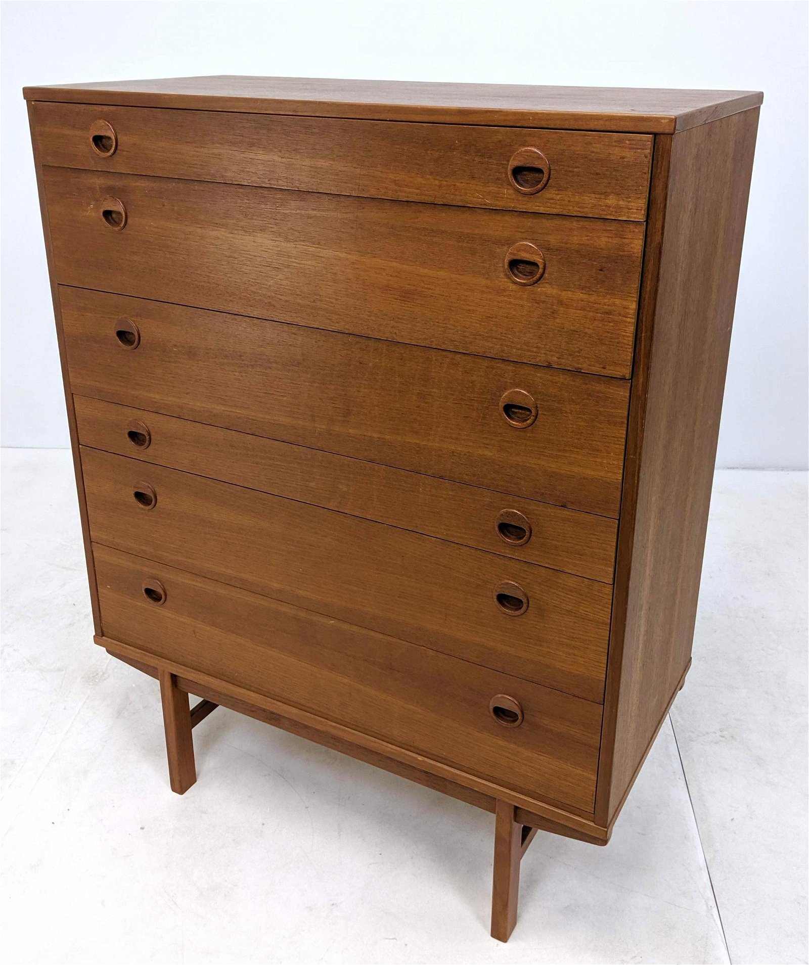 FOLKE OHLSSON Tall Dresser Chest. Danish Modern High