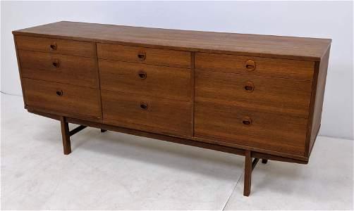 FOLKE OHLSSON Low Dresser Credenza. Danish Modern Low