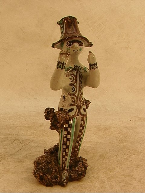 313: BJORN WIINBLAD Pottery Sculpture M5 -56 Signed.