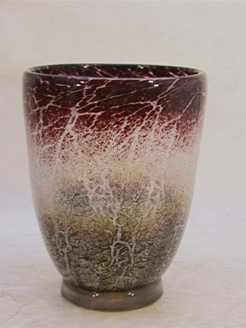 318: WMF Art glass vase Internally decorated  Multicolo