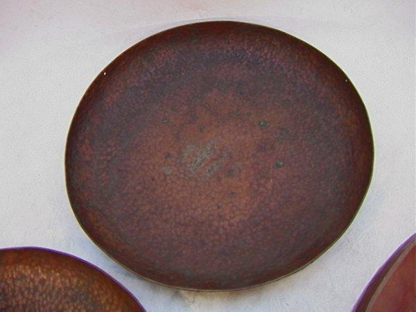 319: 3pc Hand Hammered Warty copper bowls  Dirk Van Erp - 4