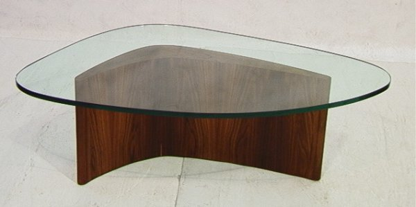 323: VLADIMIR KAGAN Boomerang coffee table Rosewood bas