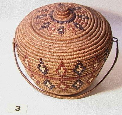 3: THOMPSON RIVER Lidded Basket   Dimensions:  H: 9 inc