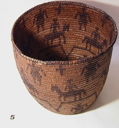 5: APACHE Basket   Dimensions:  H: 9 inches: W: 11 inch