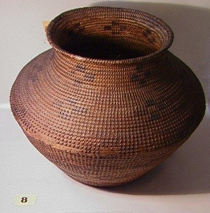 8: APACHE OLLA Basket   Dimensions:  H: 14 inches: W: 1