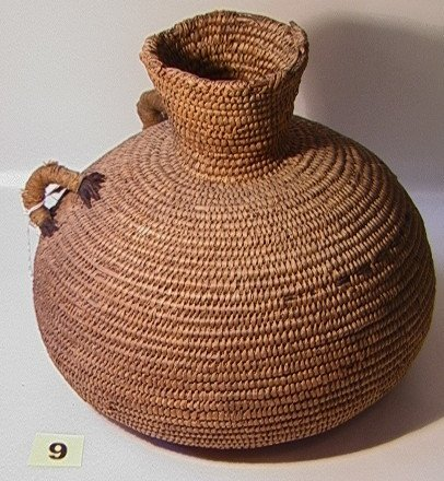9: Early PAIUTE Jug.   Dimensions:  H: 12 inches: W: 12