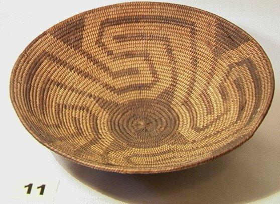 11: PIMA Geometric pattern bowl.   Dimensions:  H: 3.5