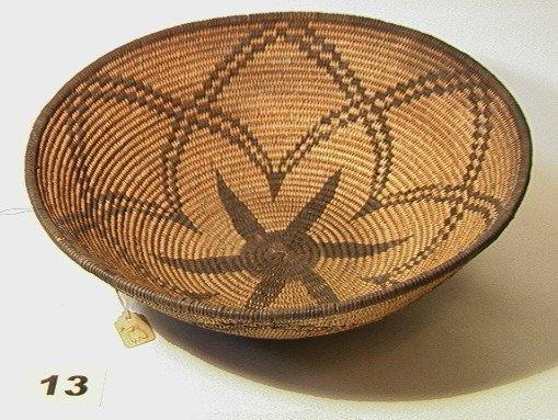 13: APACHE Geometric Bowl Native American Indian Basket
